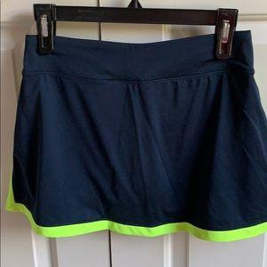 Nike Skirts - Nike Tennis Skirt Neon Yellow and Navy